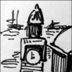 Landungsbrücken Hamburg (Zeichnung: urian)