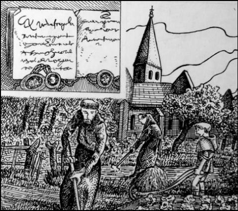 Schwarzer Ritter in Harsefeld (Zeichnung: urian)
