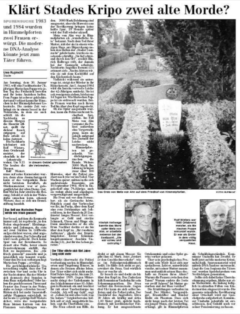 Eine ungeklärte Mord- und Vergewaltigungsserie 1983–89