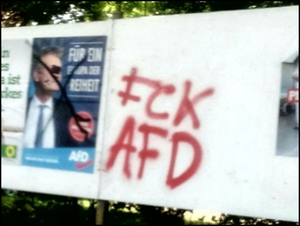 AfD Plakate Buxtehude (Foto: urian)