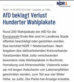 NDR AfD Plakate