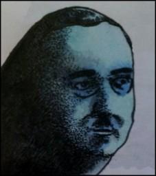 Himmelreich Hirn: Heinrich Himmler (Zeichnung: urian)