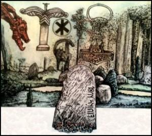 Neuheidnischer Kult (Zeichnung: urian)